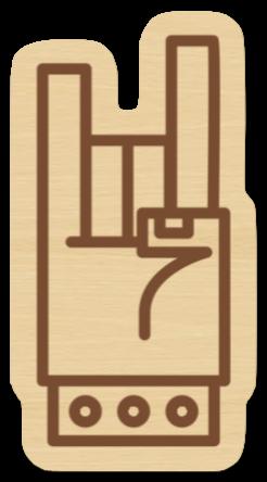 kuehlschrankmagnete wie Holzschild