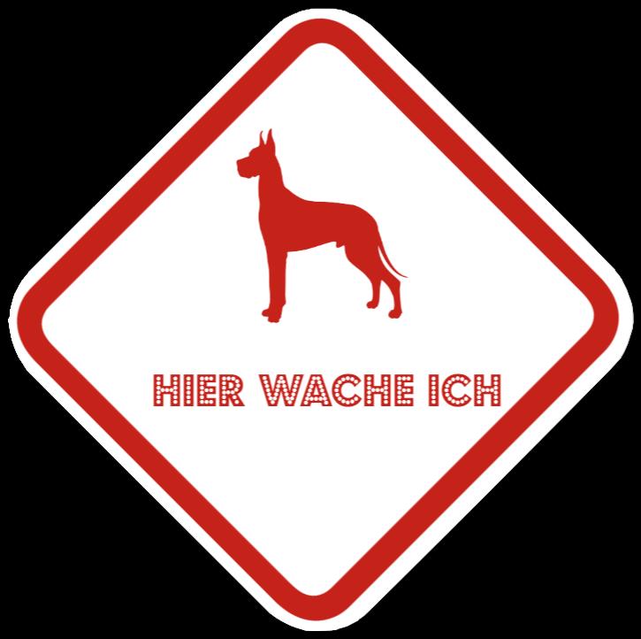 hundeschilder wie Kunststoffschild