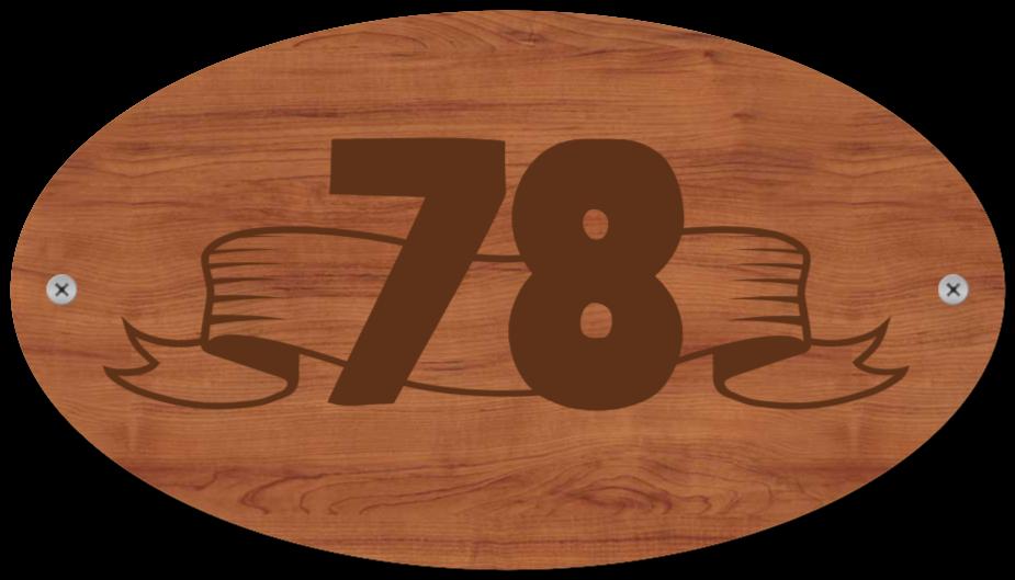 hausnummernschilder wie Holzschild