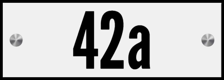 hausnummernschilder wie Acrylschild
