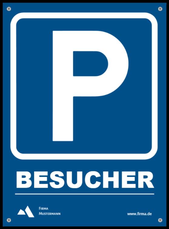 parkplatzschilder wie Kunststoffschild