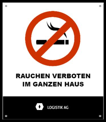 rauchverbotsschilder wie Aluminiumschild