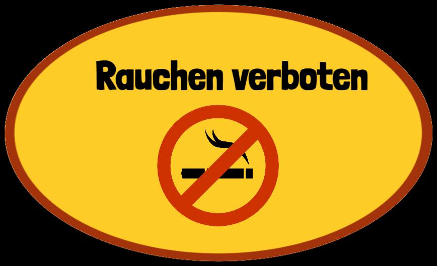 rauchverbotsschilder wie Aufkleber