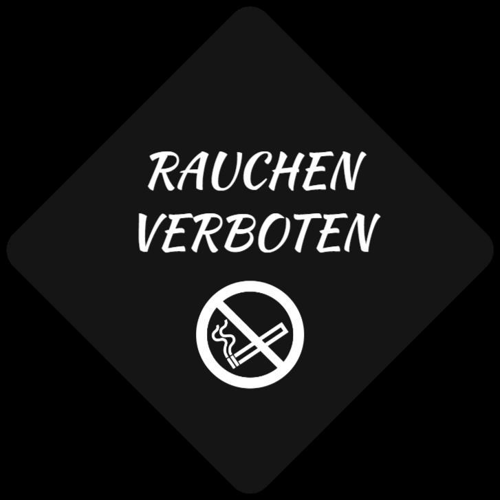 rauchverbotsschilder wie Kunststoffschild