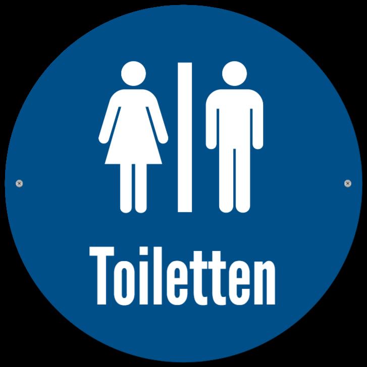 toilettenschilder wie Kunststoffschild