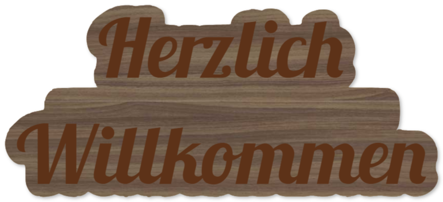 willkommensschilder wie Holzschild